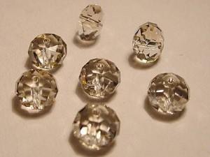 Swarovski Elements Perlen Spacer 8mm Crystal Silver Shade 10 Stück
