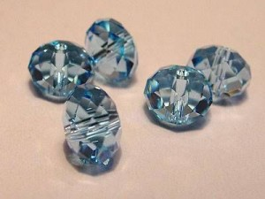 Swarovski Elements Perlen Spacer 8mm Aquamarine 10 Stück