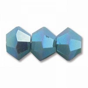 Swarovski Elements Perlen Bicones 4mm Turquoise 2xAB beschichtet 100 Stück