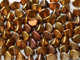Pinch Beads 5x3mm Metallic Mix 50 Stück