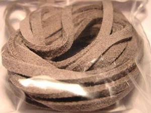 Micro-Wildlederband 3mmgrau
