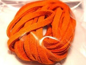 Micro-Wildlederband 3mm orange