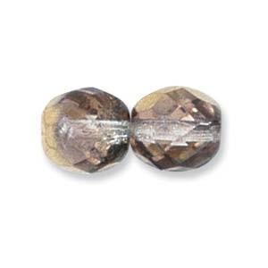 Glasschliffperlen CZ 4mm Crystal Aurum 100 Stück