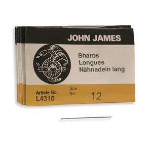 John James Needles Sharps 25 Stück Grösse 12