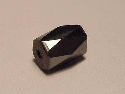 Magnetperle Hämatit facetiert oval 5x8 mm Vorteilspack 50