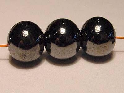 Magnetperle Hämatit rund 4 mm 10 Stück