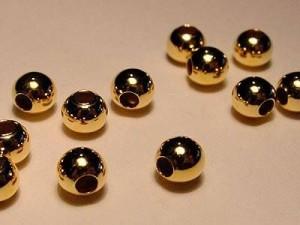 Kugel 925er Silber vergoldet 5mm 10 Stück