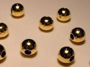 Kugel 925er Silber vergoldet 6mm