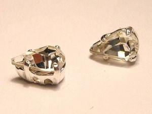 Swarovski Elements Steine im Aufnähkessel mit 4 Löchern 8x5mm Crystal