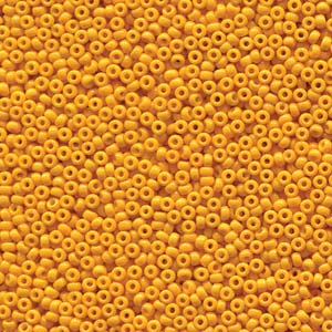 Miyuki Rocailles Beads 2mm 4453 Duracoat opaque dyed Yellow ca 12gr