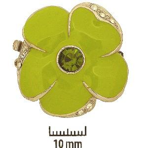 Schmuckverschluss Blüte 31mm Anis mit Swarovski Elements Steinen