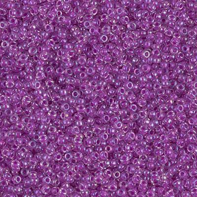 Miyuki Rocailles Beads 1.5mm 2423 magentalined rainbow Crystal ca 11gr