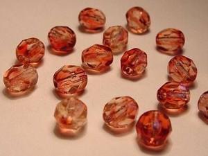 Glasschliffperlen 6mm Rosa 25 Stück
