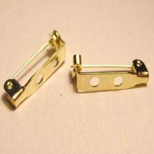 Broschennadel goldfarben 20mm zum aufkleben, befädeln