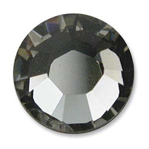 Swarovski Elements Chaton Steine SS39 Black Diamond foiled
