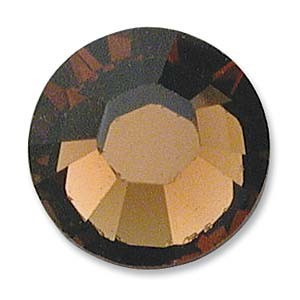 Swarovski Elements Chaton Steine SS29 Smoked Topaz foiled