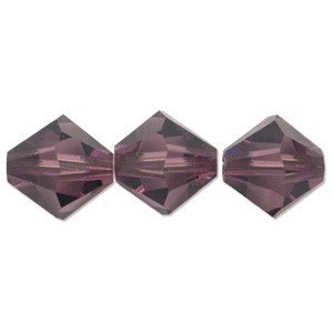 Swarovski Elements Perlen Bicones 6mm Amethyst 25 Stück