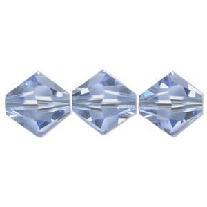 Swarovski Elements Perlen Bicones 6mm Light Sapphire 50 Stück
