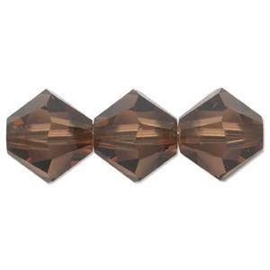 Swarovski Elements Perlen Bicones 6mm Smoked Topaz 50 Stück