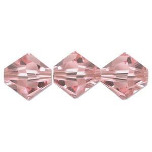 Swarovski Elements Perlen Bicones 6mm Light Rose 25 Stück