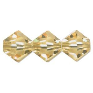 Swarovski Elements Perlen Bicones 6mm Light Topaz Shimmer 50 Stück