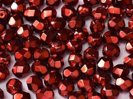Glasschliffperlen 3mm Jet Heavy Metal Hot Pink 100 Stück