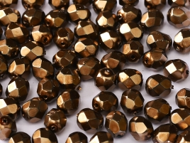 Glasschliffperlen 3mm Jet Heavy Metal light Bronze 100 Stück