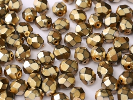 Glasschliffperlen 3mm Jet Heavy Metal Mauve 100 Stück