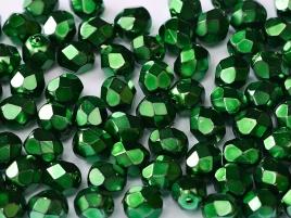 Glasschliffperlen 3mm Jet Heavy Metal Emerald 100 Stück