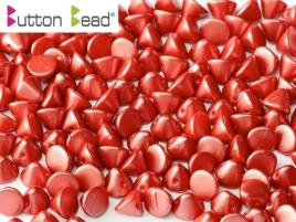 Button Beads 4mm Pastel Dark Coral ca 50 Stück