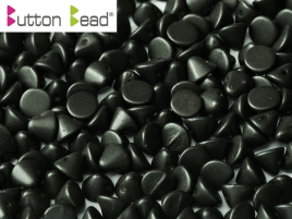 Button Beads 4mm Metallic Black ca 50 Stück