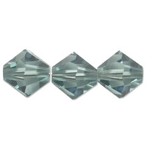 Swarovski Elements Perlen Bicones 6mm Erinite 50 Stück