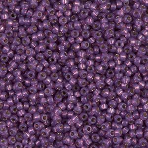 Miyuki Rocailles Beads 1,5mm 4248 Duracoat Silverlined Amethyst ca 11gr
