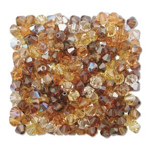 Swarovski Elements Perlen Bicones 4mm Mix Wheatberry 144 Stück