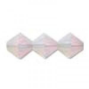 Swarovski Elements Perlen Bicones 4mm Rose Water Opal AB beschichtet 50 Stück