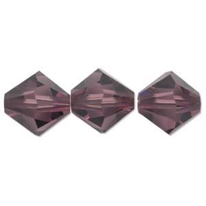 Swarovski Elements Perlen Bicones 4mm Amethyst 50 Stück