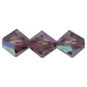Swarovski Elements Perlen Bicones 4mm Amethyst AB beschichtet 50 Stück