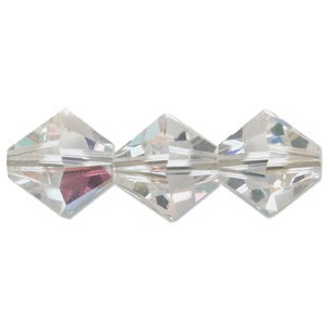 Swarovski Elements Perlen Bicones 4mm Crystal AB beschichtet 100 Stück