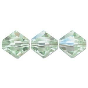 Swarovski Elements Perlen Bicones 4mm Chrysolite AB beschichtet 100 Stück
