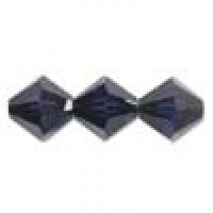 Swarovski Elements Perlen Bicones 4mm Dark Indigo 100 Stück