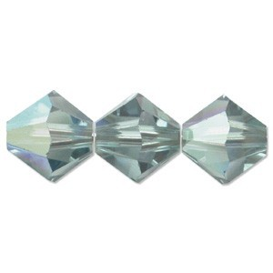 Swarovski Elements Perlen Bicones 4mm Erinite AB beschichtet 100 Stück