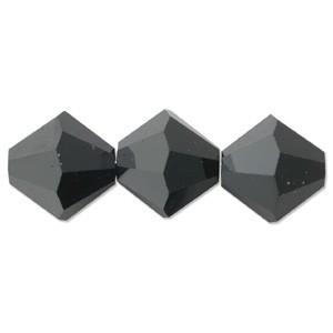 Swarovski Elements Perlen Bicones 5mm Jet Hematite 50 Stück