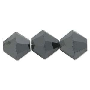 Swarovski Elements Perlen Bicones 6mm Jet HEM2X beschichtet 25 Stück