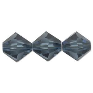 Swarovski Elements Perlen Bicones 4mm Montana 100 Stück