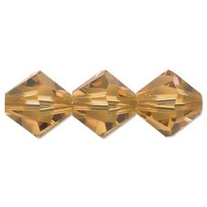 Swarovski Elements Perlen Bicones 4mm Topaz 50 Stück