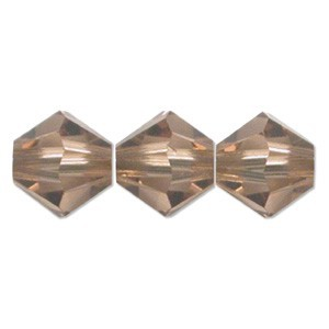 Swarovski Elements Perlen Bicones 4mm Light Smoked Topaz 50 Stück