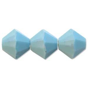 Swarovski Elements Perlen Bicones 4mm Turquoise AB beschichtet 50 Stück