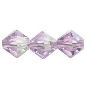 Swarovski Elements Perlen Bicones 4mm Violet AB beschichtet 100 Stück