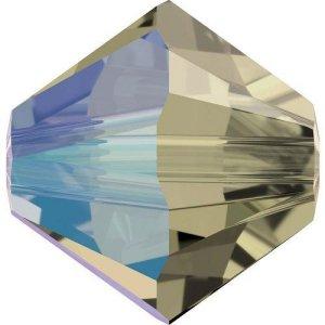 Swarovski Elements Perlen Bicones 4mm Black Diamond Shimmer 100 Stück