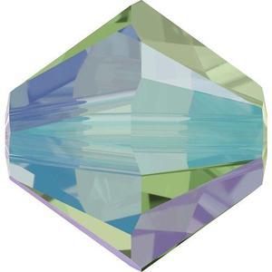 Swarovski Elements Perlen Bicones 3mm Erinite Shimmer 2X beschichtet 100 Stück